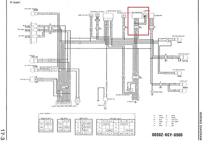 XR400 Aus wiring